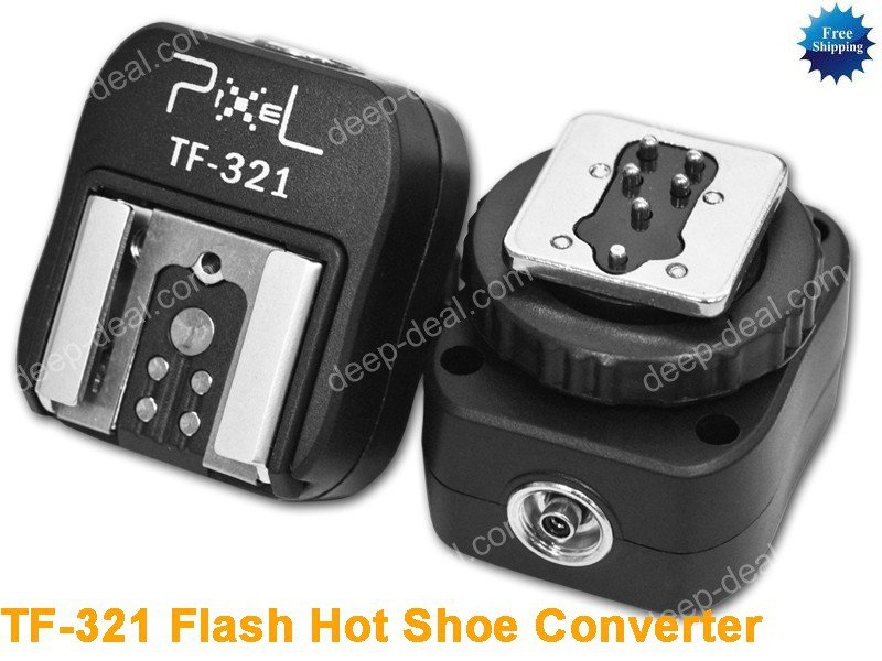 TF-321 Flash Hot Shoe to PC Sync Adapter for Canon