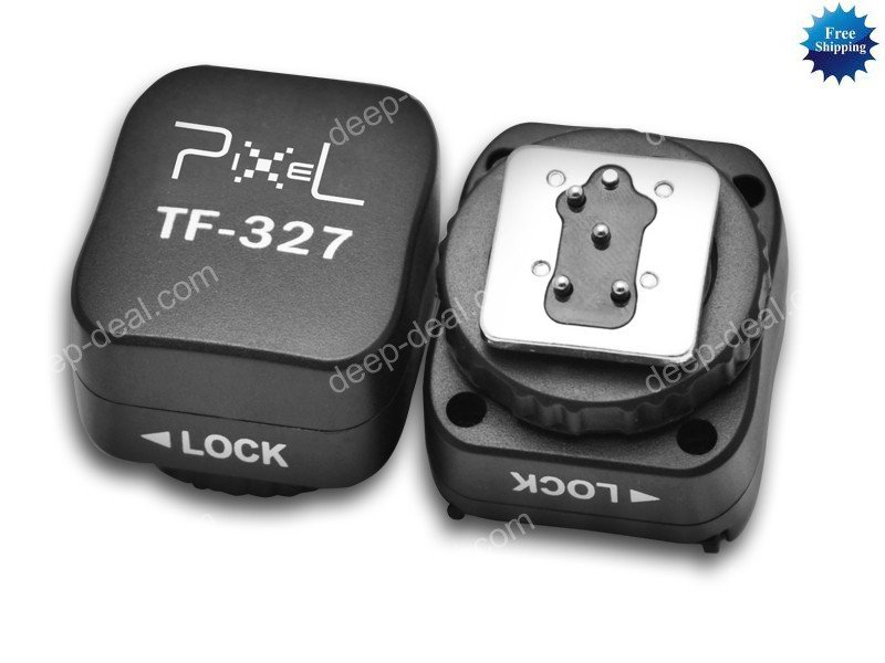 TF327 Flash Hot Shoe to PC Sync Adapter Nikon D7000 D90