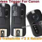 Pixel TF-361 Flash Trigger for Canon with 2 Receivers