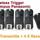 Pixel TF-364 Flash Trigger for Olympus Panasonic with 4 Receivers