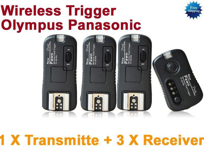 Pixel TF-364 Flash Trigger Olympus Panasonic 1 Transmitter 3 Receiver