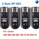 2 Sets RF-603 Radio Flash Trigger for Canon C3