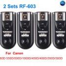2 Sets RF-603 Radio Flash Trigger for Canon C1