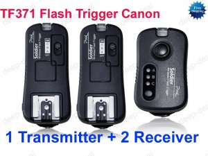 TF371 Flash Trigger for Canon 1 Transmitter 2 Receiver