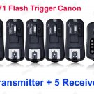 TF371 Flash Trigger for Canon 1 Transmitter 5 Receivers