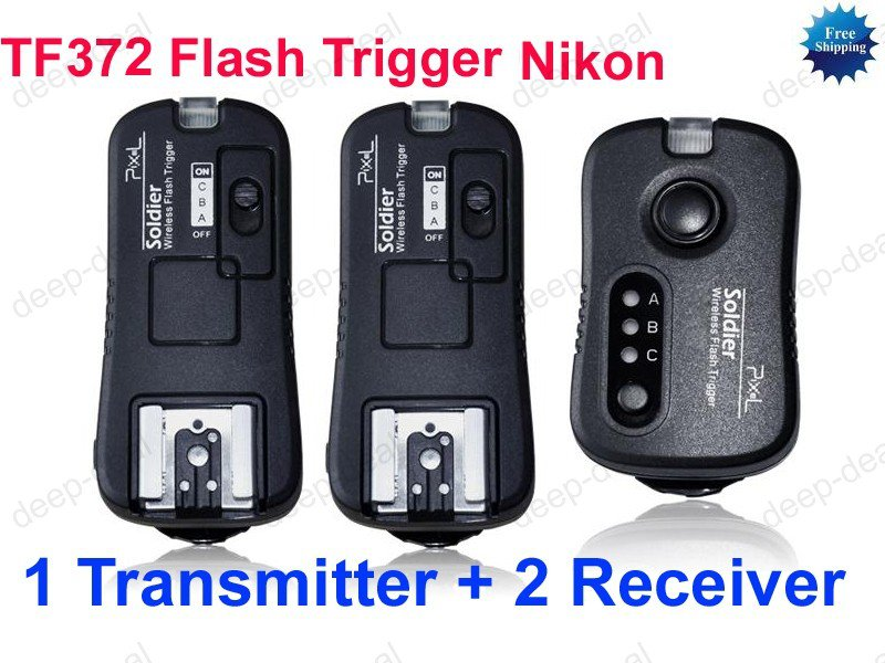 TF372 Flash Trigger for Nikon 1 Transmitter 2 Receiver