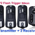 TF372 Flash Trigger for Nikon 1 Transmitter 3 Receiver