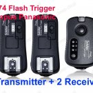 TF-374 Flash Trigger Olympus Panasonic with 2 Receivers