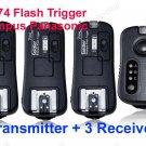 TF-374 Flash Trigger Olympus Panasonic 1 Transmitter 3 Receivers
