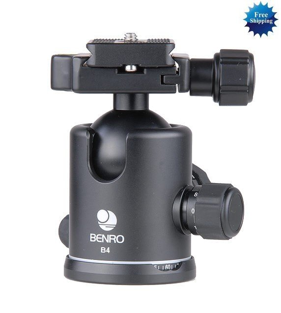 Benro b4 double action ballhead +PU-85 Quick Release Plate B4