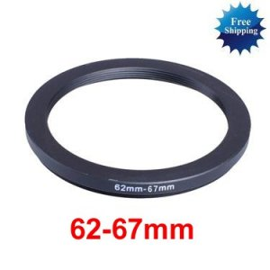 62mm-67mm 62-67 mm 62 to 67 Step Up Ring Filter Adapter