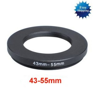 43mm-55mm 43-55 mm 43 to 55 Step Up Ring Filter Adapter