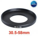 30.5mm-58mm 30.5-58 mm 30.5 to 58 Step Up Ring Filter Adapter