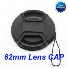 62mm Center Pinch Snap on Front Cap for Lens Filters