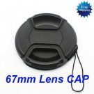 67mm Center Pinch Snap on Front Cap for Lens Filters