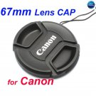 67 mm Center Pinch Snap-on Front Lens Cap for Canon Lens