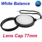 77 mm White Balance Lens Filter Cap with Filter Mount WB