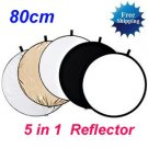 "80cm 32"" 5-in-1 Light Mulit Collapsible disc Reflector"