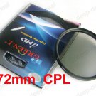 72 mm 72mm Circular Polarizing C-PL PL-CIR CPL Filter