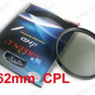 62 mm 62mm Circular Polarizing C-PL PL-CIR CPL Filter