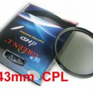 43 mm Circular Polarizing C-PL PL-CIR CPL Filter