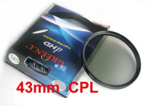 43 mm Circular Polarizing C-PL PL-CIR CPL Filter