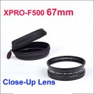 XPRO-F500 67mm Close-Up Lens for canon nikon sony Olympus Pentax