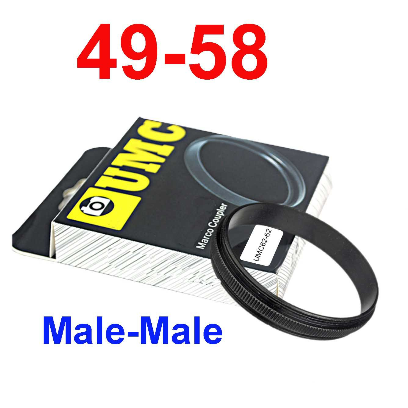 Male 49mm-58mm 49-58 mm Macro Reverse Ring / reversing