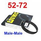 Male 52mm-72mm 52-72 mm Macro Reverse Ring / reversing