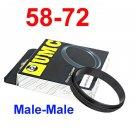 Male 58mm-72mm 58-72 mm Macro Reverse Ring / reversing