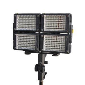 4 x HDV-Z96 LED HD Video Light Kit Z96 LED Video Light+Battery 3-8 days shipping