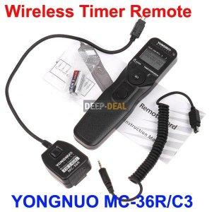 YONGNUO MC-36R/C3 Wireless Timer Remote CANON 50D 5D II 7D 1D IV