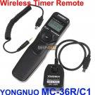 YONGNUO MC-36R/C1 Wireless Timer Remote CANON Rebel T3 T3i T2i T1i XSi G12