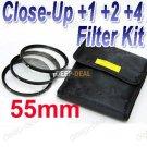 55 mm Macro Close-Up +1 +2 +4 Close Up Filter Kit