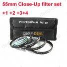 55mm Macro Close-Up +1 +2 +4 +10 Close Up Filter Kit