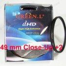 Close-Up +2 49mm 49 mm Macro Close Up Filter