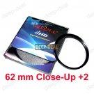 Close-Up +2 62mm 62 mm Macro Close Up Filter