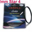 Green.L 52mm Star 4 Point 4PT Filter for 52 mm LENS