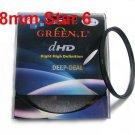 Green.L 58mm Star 6 Point 6PT Filter for 58 mm LENS
