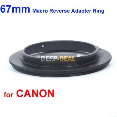 67mm Macro Reverse Adapter Ring for Canon EOS EF/EF-S Mount