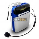soaiy S-318 Voice Amplifier & Mp3 Player & FM Radio Blue