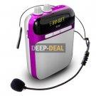 soaiy S-318 Voice Amplifier & Mp3 Player & FM Radio Purple