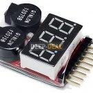 3.7-30V 1-8S Lipo/Fe Battery Voltage Tester Low Voltage Buzzer Alarm