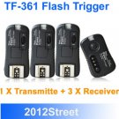 Pixel Pawn TF-361 Wireless Flashgun Remote Trigger Canon with 3 receivers