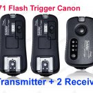TF-371 Wireless Flash Trigger for Canon 1 Transmitter 2 Receiver 580EX 430EX