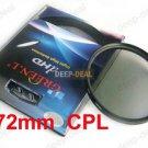 72mm Circular Polarizing C-PL PL-CIR CPL Filter 72CPL