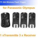 Pixel pawn TF364 Wireless Flash Trigger Olympus Panasonic Leica 3 receivers