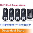 TF371 Wireless Flash Trigger Canon with 4 Receiver FlashGun studio light