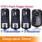 TF-371 Wireless Flash Trigger for Canon SpeedLite with 3 Receiver FlashGun
