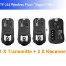 Pixel Pawn TF362 Flash Trigger f Nikon 1 Transmitte 3 Receiver flashgun trigger